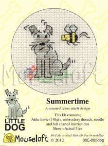 Mouseloft Summertime Little Dog cross stitch kit